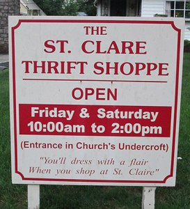 thrift shoppe sign
